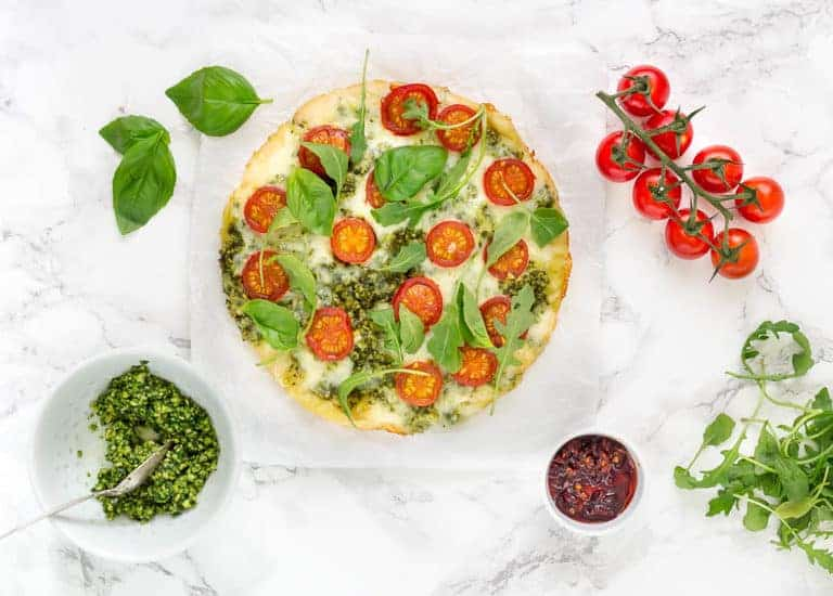 Summer Tomato Pizza With Pesto-19 | Recipes From A Pantry