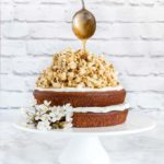 Nutmeg Plantain Cake With Coconut Caramel Popcorn {West African Flavours}