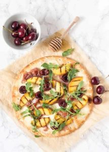 grilled peach cherry and parma ham pizza-4 | Recipes From A Pantry