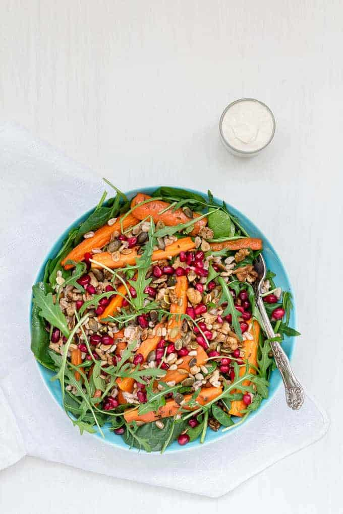 Roasted Carrot and Farro Salad With A Tahini Yoghurt Dressing-12 | Recipes From A Pantry