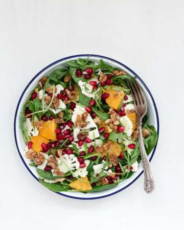 Shaved Cauliflower And Orange Salad With An Orange Tahini Dressing-16 | Recipes From A Pantry