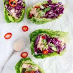 Spicy Yoghurt Chicken Lettuce Wraps {GF}
