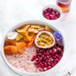 Tropical Bircher Muesli Bowl With Passionfruit And Mango {Vegan}