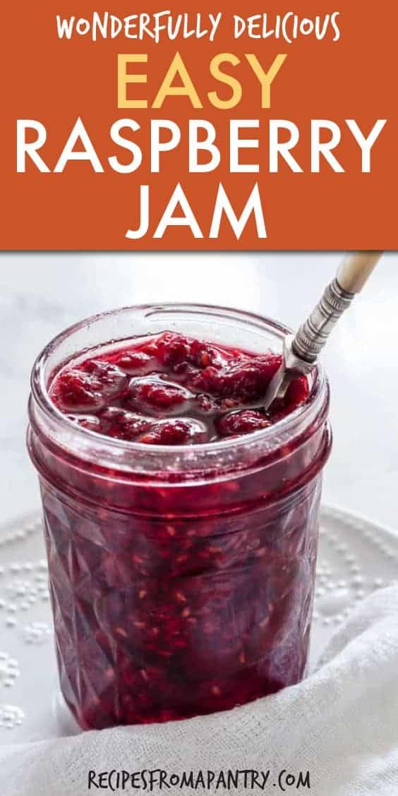 easy rosewater raspberry jam