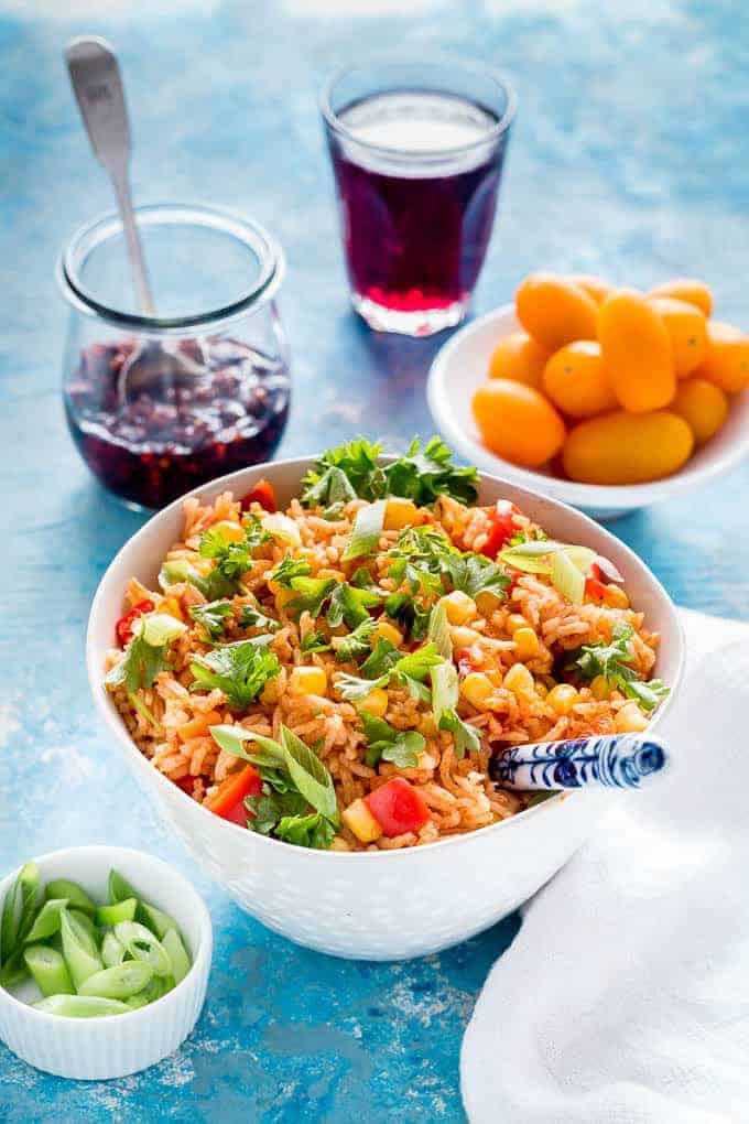 Sweetcorn Jollof Rice Recipe-48 | Recipes From A Pantry