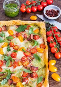 quick bacon tomato tart -8 | Recipes From A Pantry