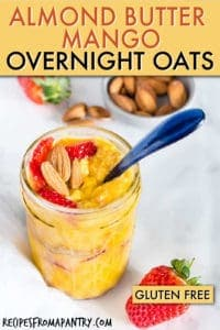 ALMOND BUTTER MANGO OVERNIGHT OATS