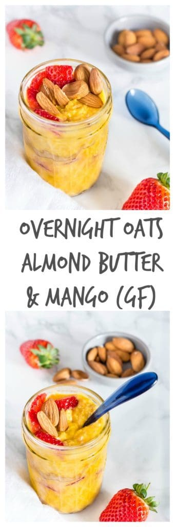 Gluten-free almond butter mango overnight oats | Recipes From A Pantry