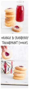 Orange-Cranberry Shortbread Cookies with Jam are easy thumbprint cookies perfect for Christmas. They're addictive, festive, and fun for kiddoes to make. A perfect Christmas cookie recipe, holiday cookie recipe, or any time of the year cookie recipe. #thumbprintcookies #thumbprintcookierecipe #cookierecipes #jamfilledcookie #christmascookies #holidaycookies