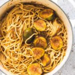 Saffron Sauce Pasta With Figs