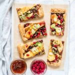 Caramelised Onion, Brie And Brussels Sprout Tart {4 Ingredients}