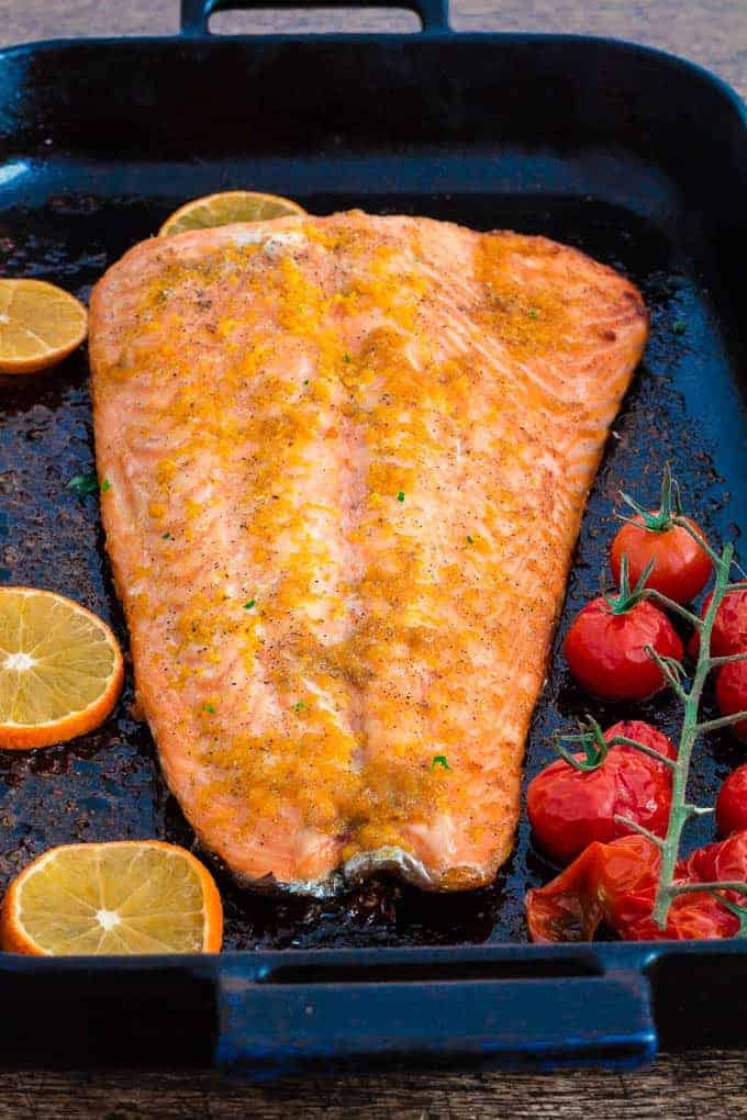 orange and cardamom baked salmon recipe | Recipes From A Pantry
