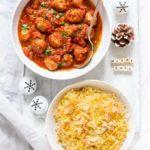 Harissa Meatballs, Saffron Rice & Harissa Butter Corn – Gluten Free