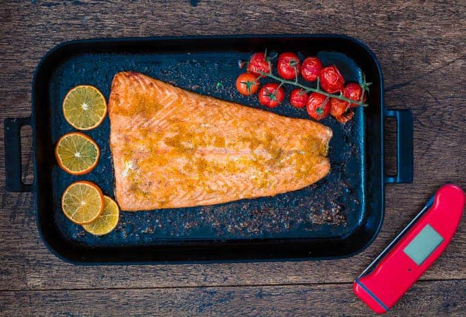 A deliciously different orange and cardamom baked salmon recipe | Recipes From A Pantry