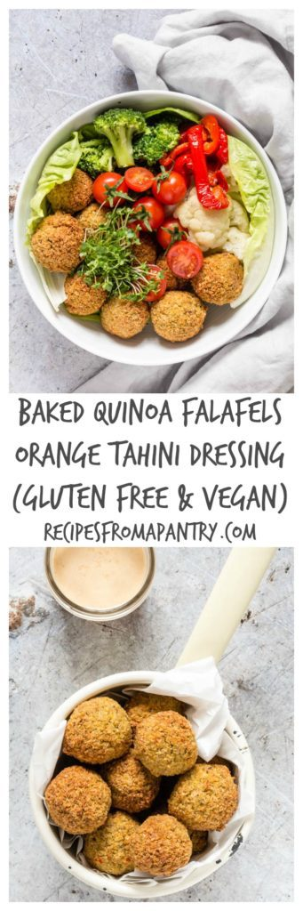 Baked Quinoa Falafels With An Orange Tahini Dressing   Recipes From A Pantry