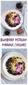 Blueberry Pistachio Porridge