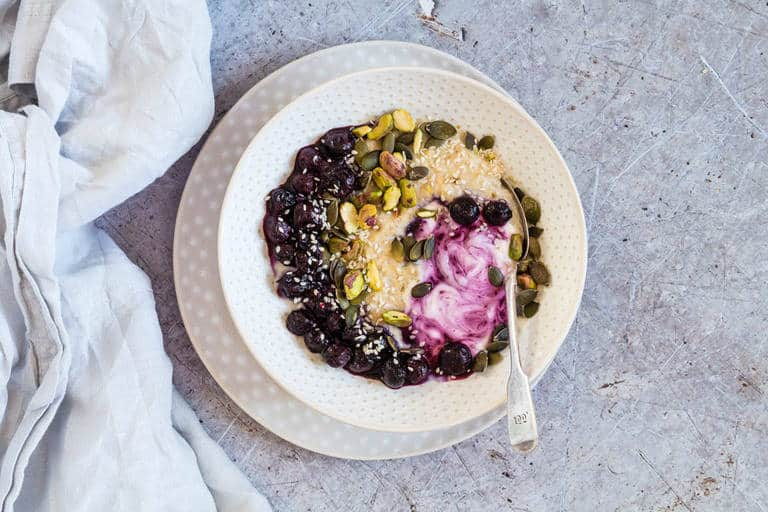 Blueberry Pistachio Porridge - Recipes From A Pantry
