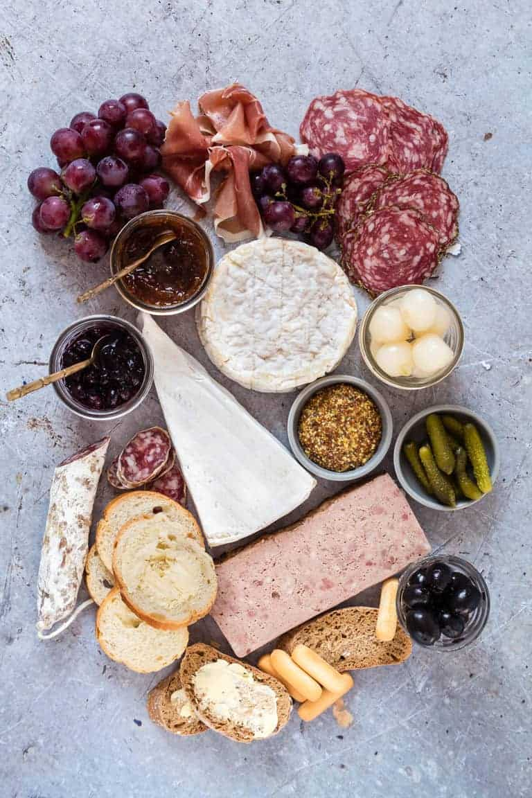 keto snacks including cheese and meats grouped together