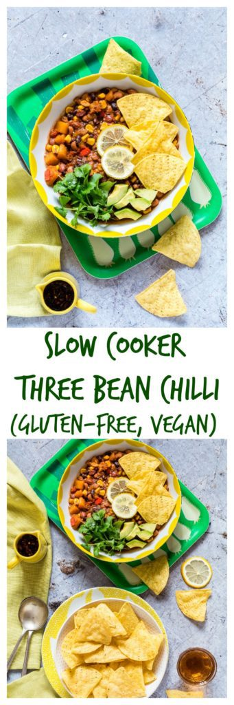 Slow cooker three bean chilli. | Recipes From A Pantry