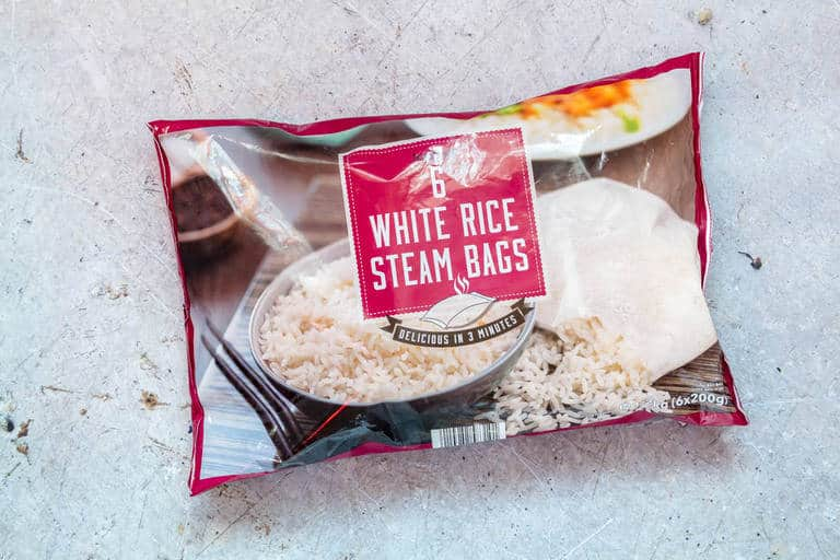 iceland foods white rice for meal plan inclusion