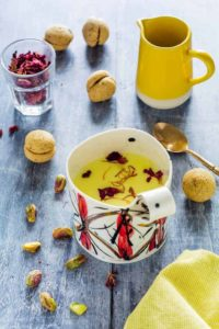 honey saffron milk.   Recipes From A Pantry.