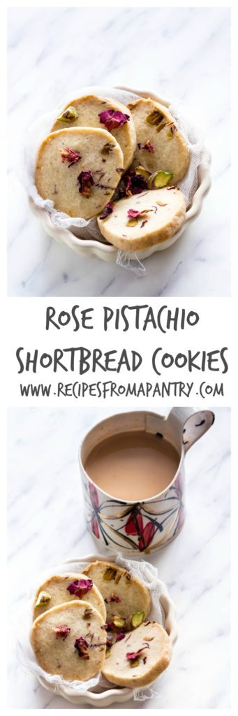 Rose Pistachio Cookies Shortbread   Recipes From A Pantry