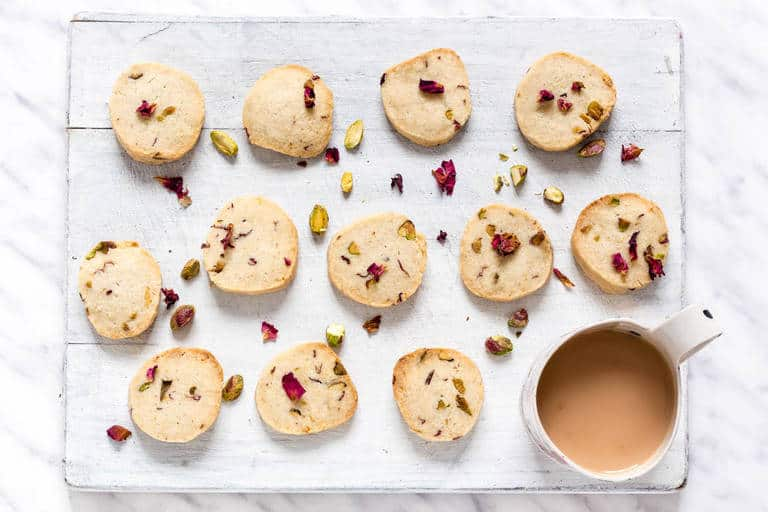 Pistachio rose Cookies shortbread | Recipes From A Pantry