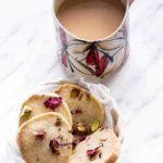 Rose Pistachio Cookies {Shortbread }