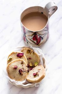 Rose Pistachio Shortbread biscuits | Recipes From A Pantry