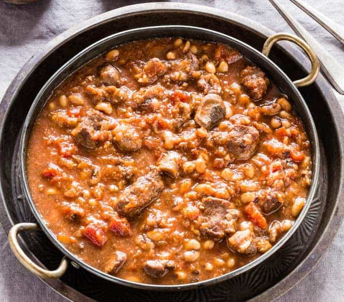 Slow Cooker Bean and venison Stew | Recipes From A Pantry