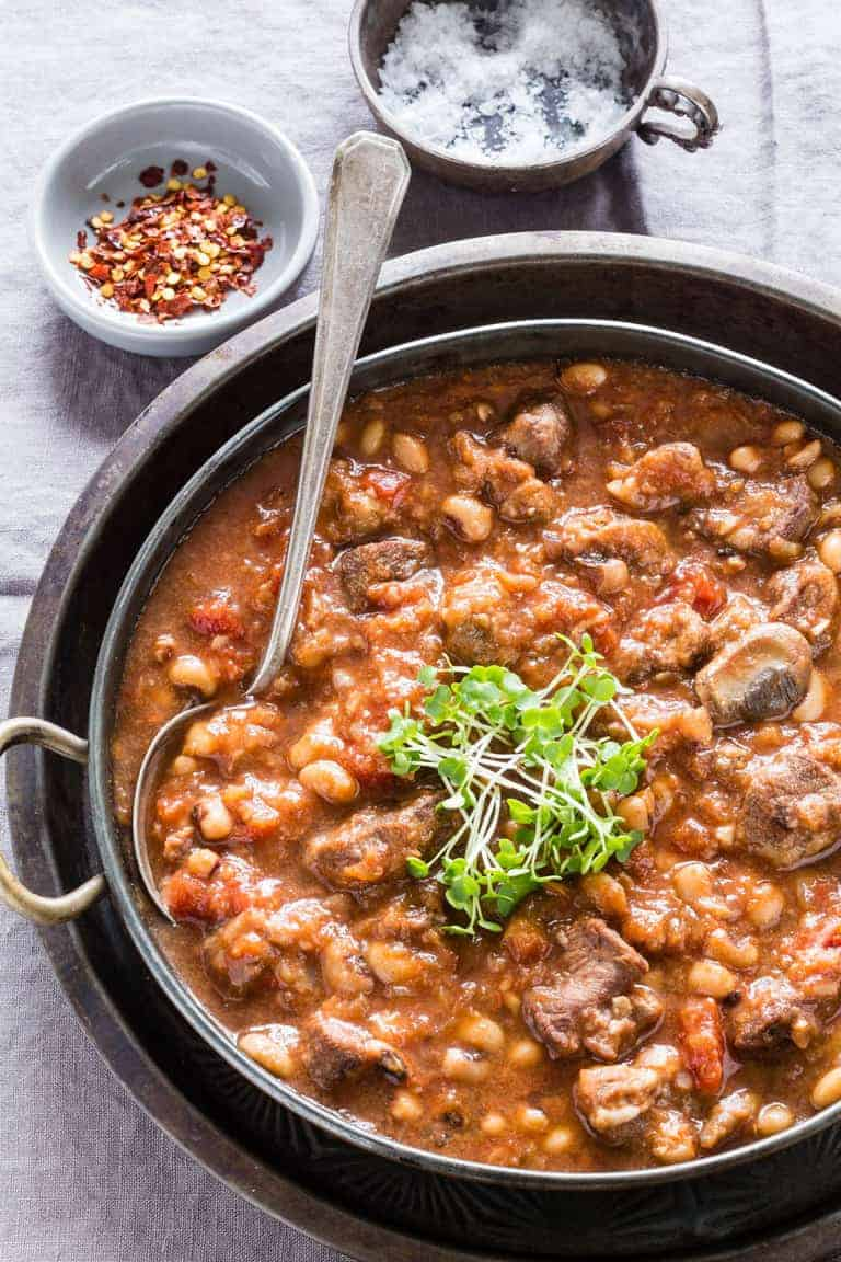 slow cooker venison and bean stew | Recipes From A Pantry