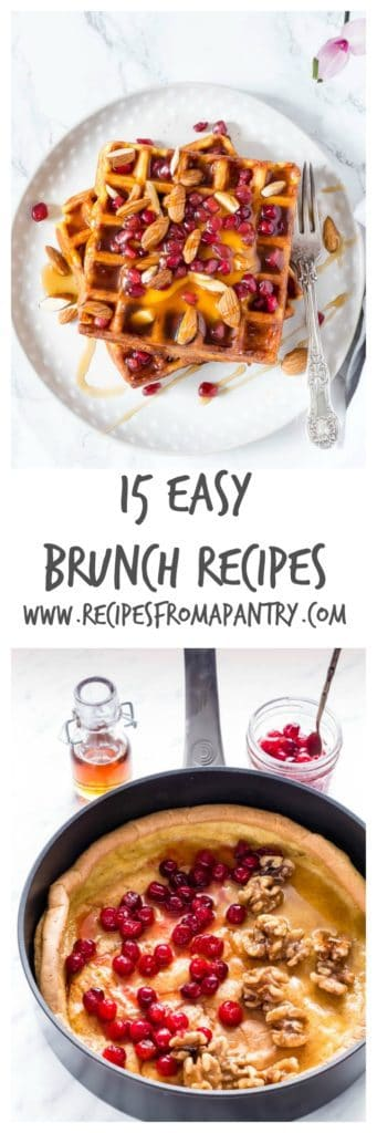 15 Easy Brunch Recipes | Recipes From A Pantry