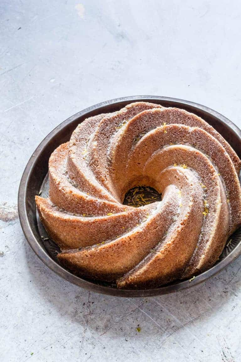 This lemon lavender bundt cake recipe is full of florally, light and zesty spring flavours. A simple and easy dessert with just nine ingredients. | recipesfromapantry.com