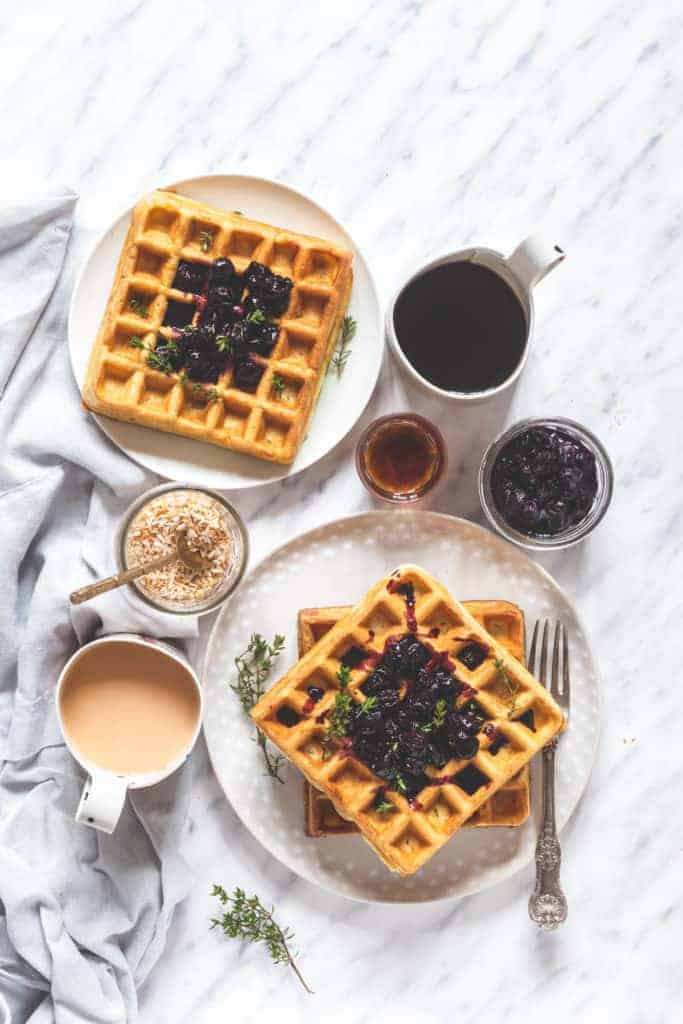 Orange And Thyme Waffles With Blueberry Compote - Recipes From A ...