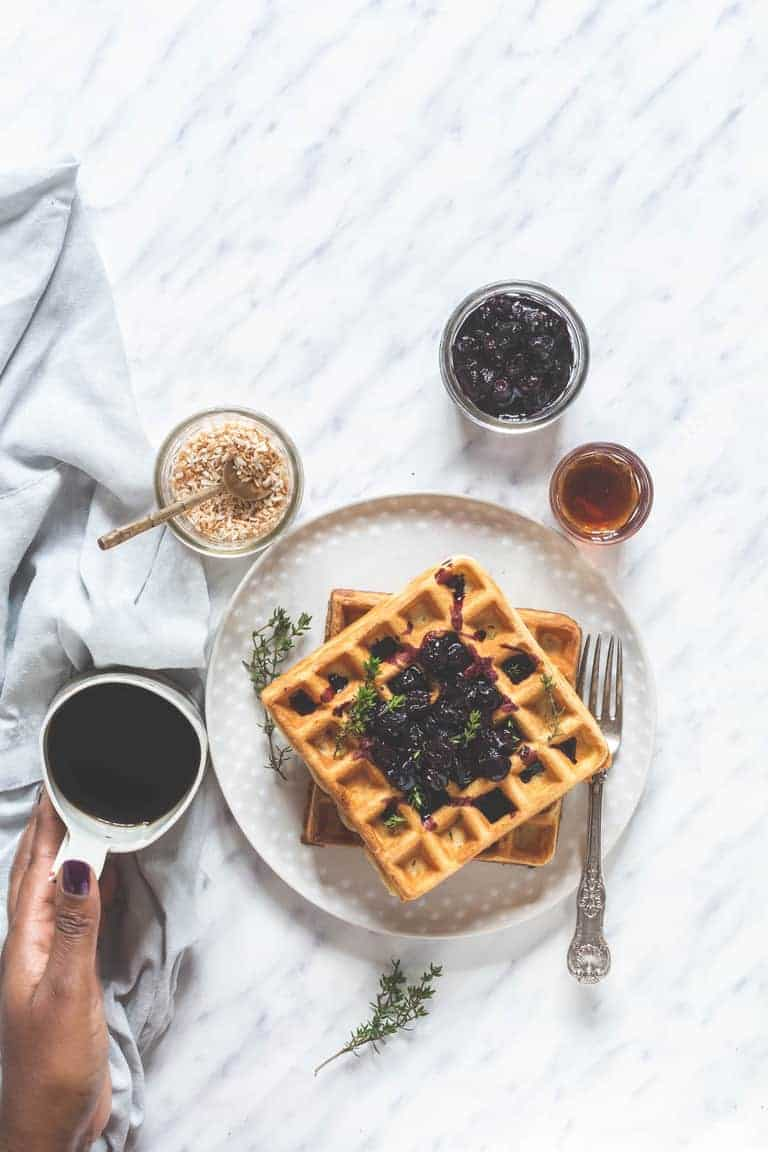 orange thyme waffles | Recipes From A Pantry