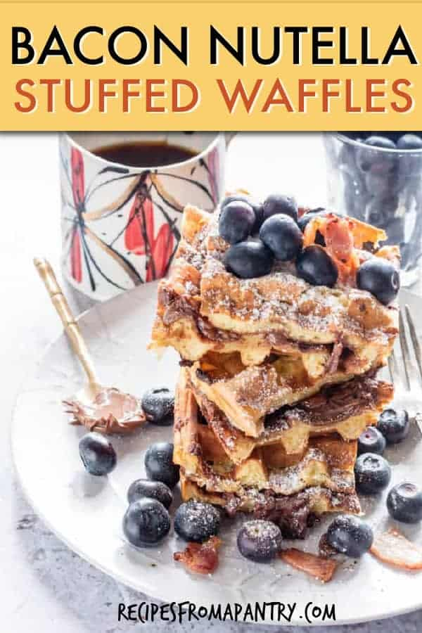 bacon nutella stuffed waffles