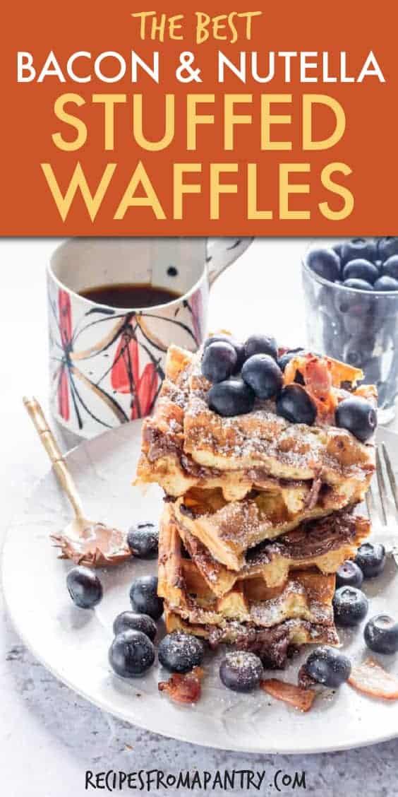 bacon and nutella stuffed waffles
