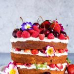 Berry, Orange Blossom And Elderflower Cake With Mascarpone Whipped Cream