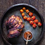 Roast Harissa Lamb With Harissa Apricots Stuffing