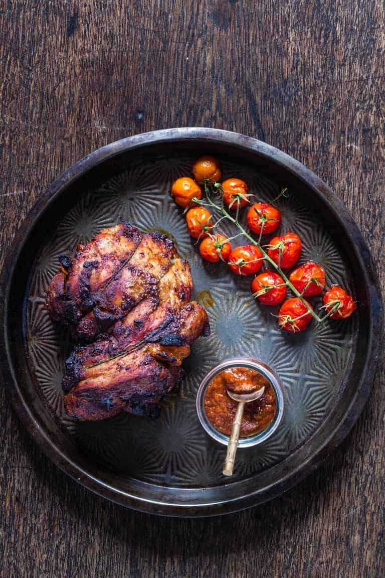 Roast Harissa Lamb With Harissa Apricots Stuffing - Recipes From A Pantry