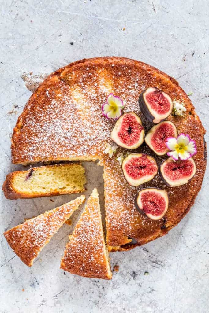 Semolina Cake with three slices of cake