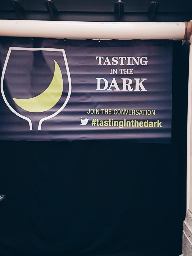 Laithwaite's Wine Tasting in the Dark event - lets you use a mix of senses to experience different tastes of their delicious wine (synaesthesia).