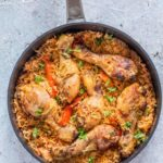Baked Chicken Jollof Rice – African Recipe {Gluten-free}