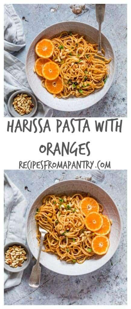 Harissa Pasta With Oranges - recipesfromapantry.com