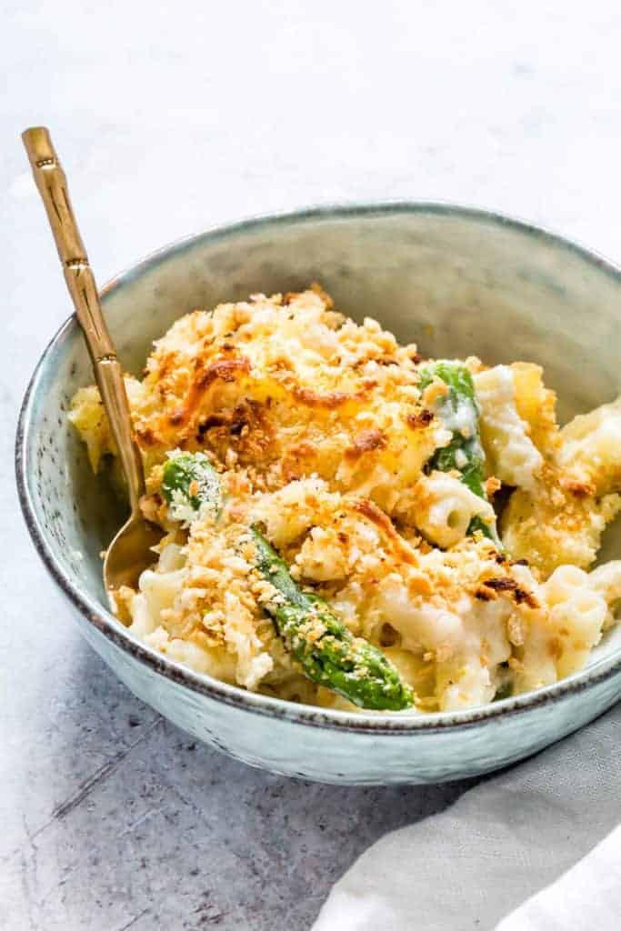 asparagus macaroni cheese - Comfort food alert - creamy asparagus ...