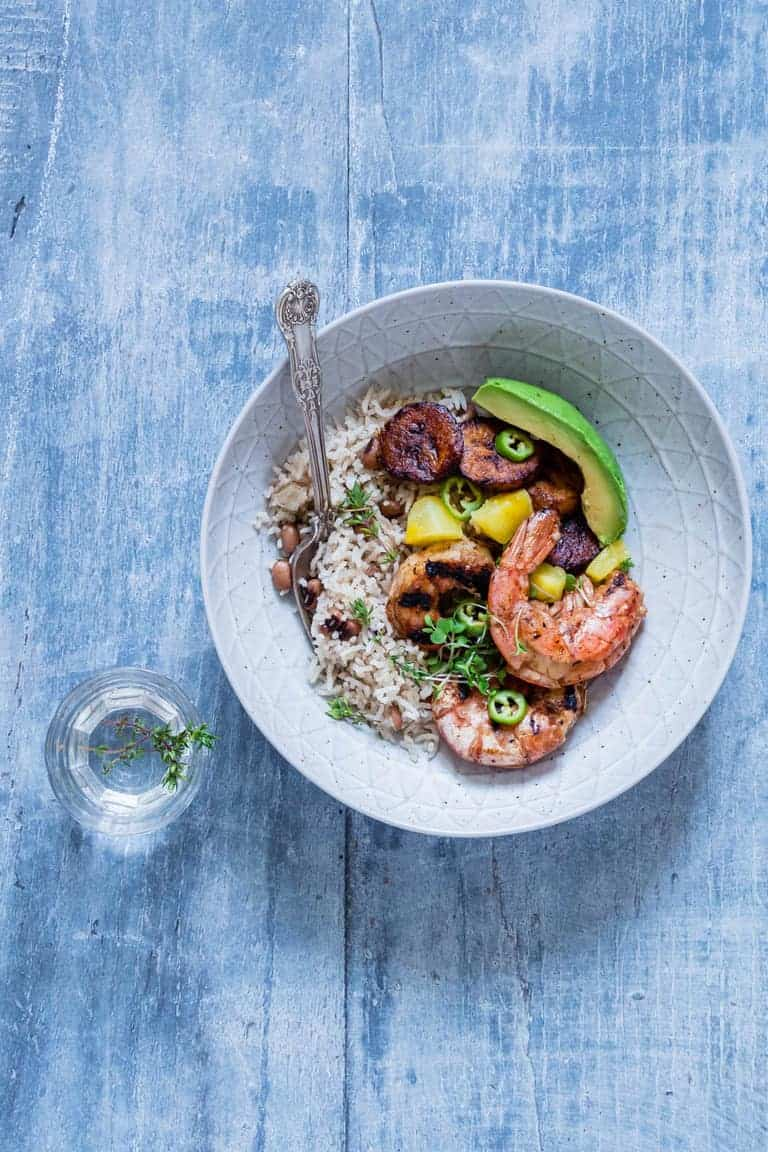 Jerk Shrimps With Coconut Rice And Peas – African Flavours