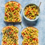Baharat Marinated Chickpea Sandwich