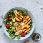 Grilled Scallop And Balsamic Grilled Peach Salad {Gluten-Free, Paleo}