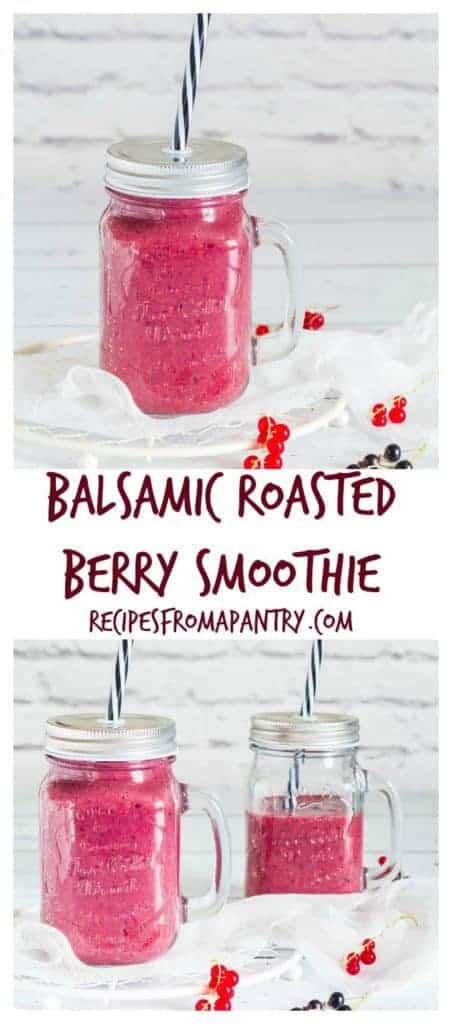 My easy refreshing balsamic roasted berry smoothie is a perfect brunch treat. This is a must have vegan recipe for the family. recipesfromapantry.com