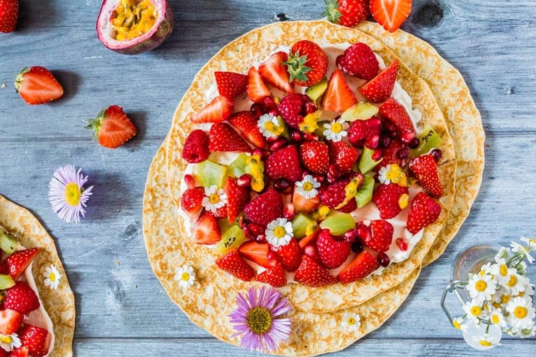 Fruit Pancake Pizza - Recipes From A Pantry